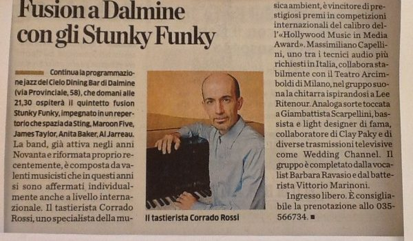Articolo gionale Stunky Funky